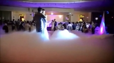 Hochzeitstanz im Bodennebel