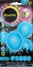 ILLOOMS 5er LED Ballon Blau