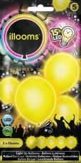 ILLOOMS 5er LED Ballon Gelb