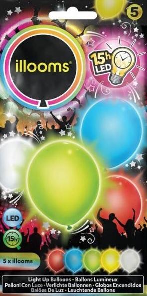 ILLOOMS 5er LED Ballon Mix